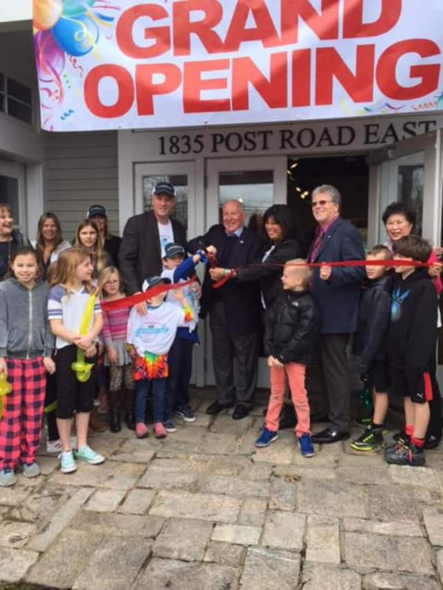 Officials celebrated the opening of Shoreline Integrative Pharmacy in Westport.