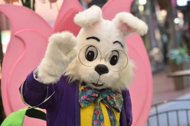 The Easter bunny appeared to have fallen asleep at the Willowbrook Mall Wednesday, causing panic amongst moms in line for photos.