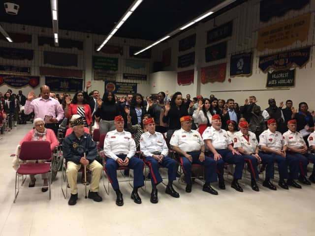 Dozens of Rockland residents became citizens of the United States on Friday during a naturalization ceremony in Pomona.