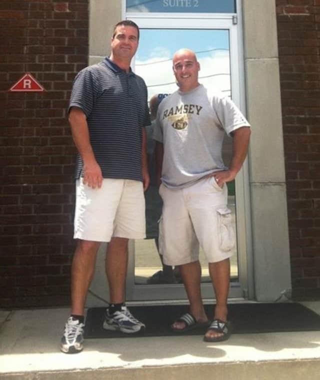 Head Ramsey Softball Coach Chris Caserta, left, and Head Ramsey Football Coach Vic Tribuzio.