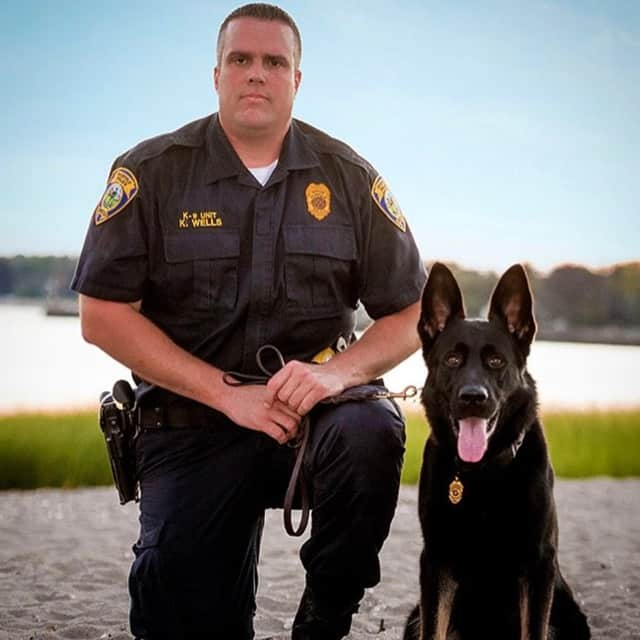 K-9 Officer Jagger and his handler.