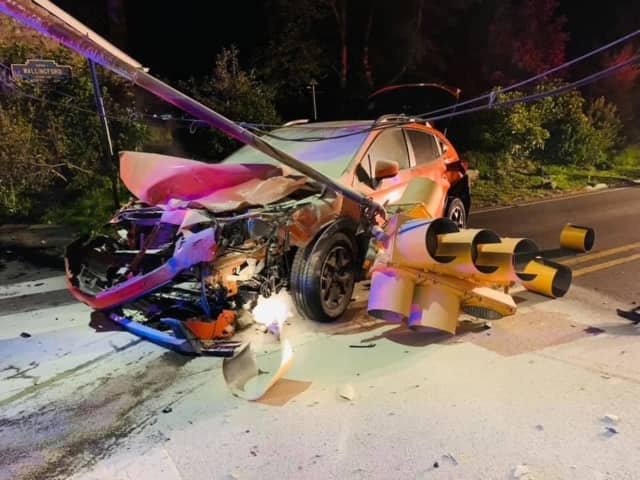 One driver was left injured following a two-car crash that left traffic lights inoperable in Nether Providence Monday night.