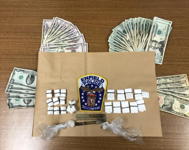 The Enfield Police Department seized heroin, crack and cash during a bust.