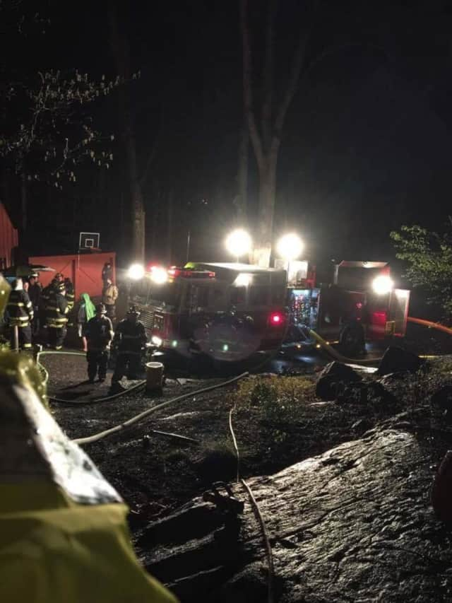 Firefighters battled a blaze at a South Ledge Loop home on Thursday morning.