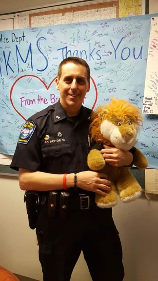 Officer Mark Pastor has been teaching the D.A.R.E. curriculum to students in Easton for over 27 years.