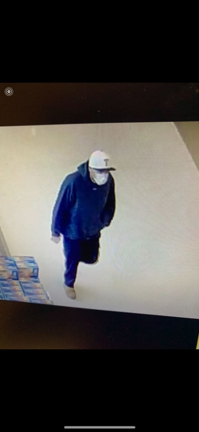 Know him? Shelton Police are asking the public for help identifying a man who allegedly robbed a Peoples Bank.