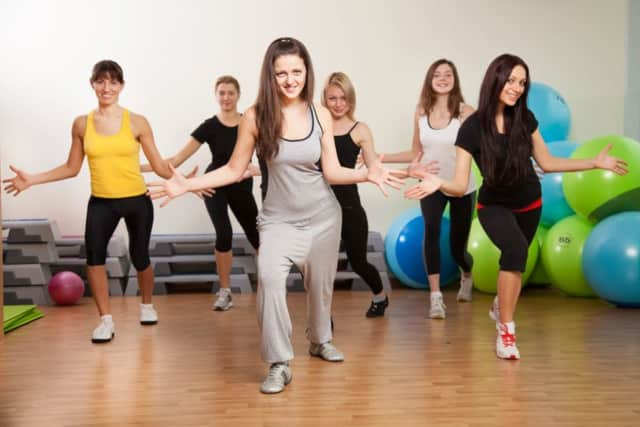 Zumba for students in grades 6-8 takes place at St. Leo's School in Elmwood Park on Wednesday.