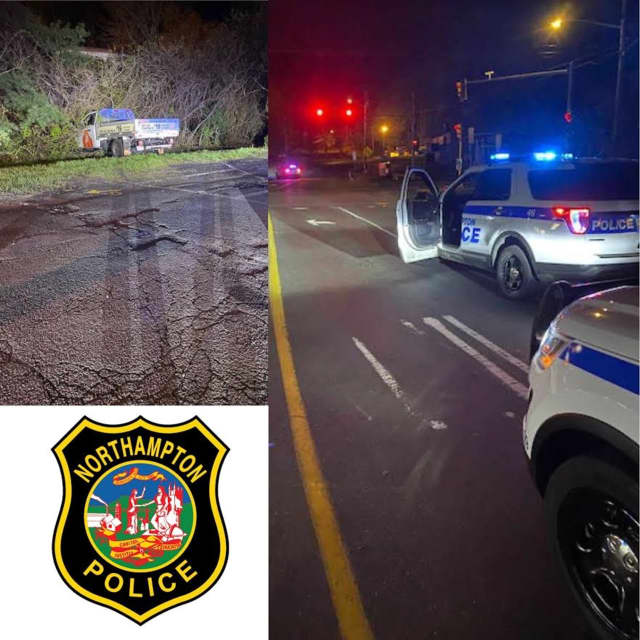 A man found asleep behind the wheel in Northampton was arrested for allegedly being intoxicated.