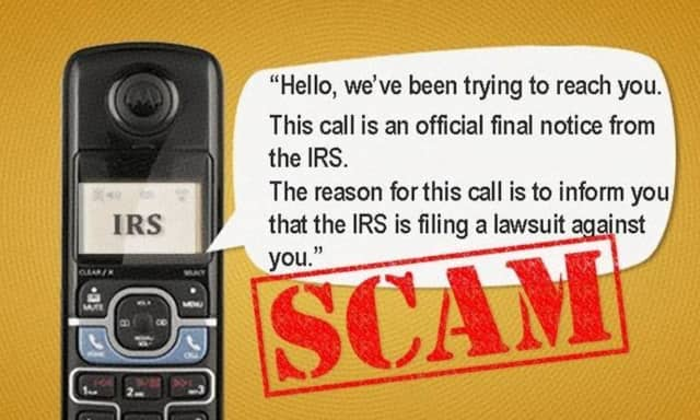 Income tax scammers are making a new round of calls to residents.