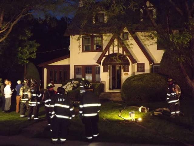 Firefighters respond to a Glen Rock house fire Sunday evening.
