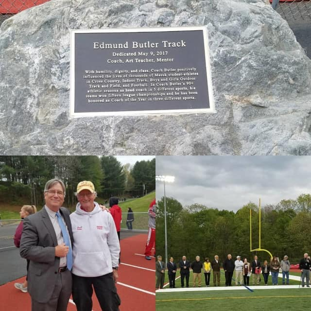 Mausk High School named its track after longtime coach Ed Butler.