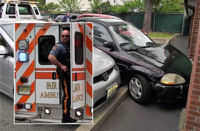 The driver, 72, was taken to The Valley Hospital by Fair Lawn EMS.
