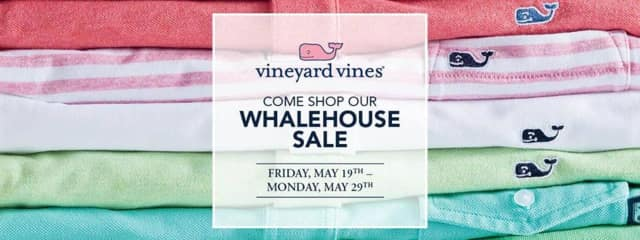 The Vineyard Vines Whalehouse Sale opens Friday in Danbury and runs through Memorial Day.