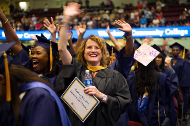 More than 2,000 students graduated from Westchester Community College.