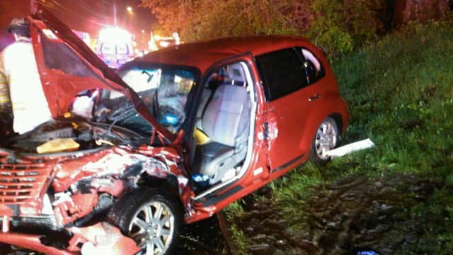 A head-on collision in Trumbull left three hospitalized.