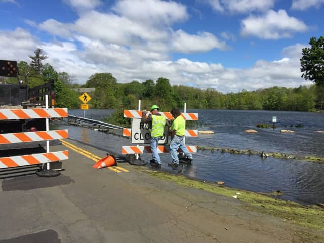 Parts of Willow Grove Road are closed due to flooding from the Secor Pond.