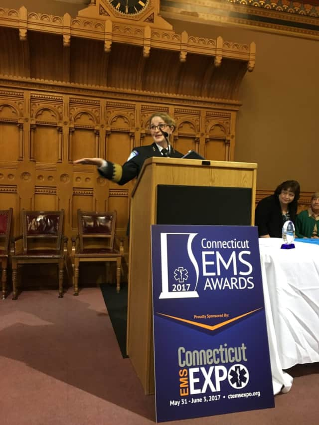 Erin Smith was just one of two Stratford EMS workers honored at the CT EMS Awards in Hartford.