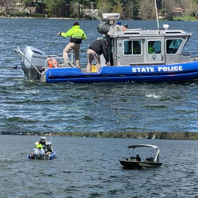 Police believe a body found in a Western Mass lake is that of a missing New York man.
