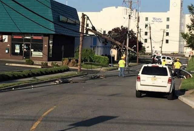 Power was knocked out to several businesses.