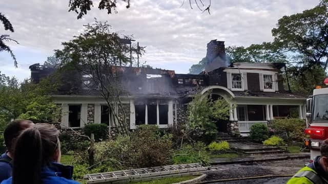 An electrical short started a fire that destroyed a Chappaqua home.