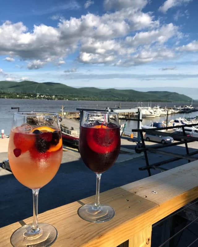 Sangria -- and a killer view -- are on the menu at Pamela's On The Hudson in Newburgh.