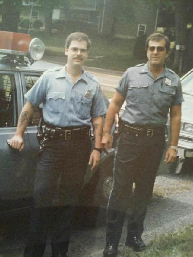 Pictured is Joe Neu on the right and his brother, Ramapo Officer Jeff Neu, on the left.