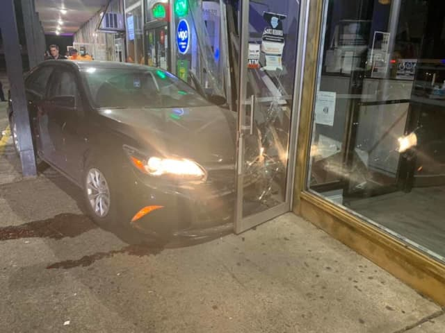 A driver was charged with DWI after slamming into a Rockland County barbershop.
