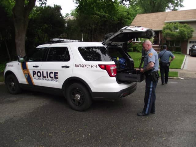 Ridgewood Police respond to reports of a bear sighting Monday.