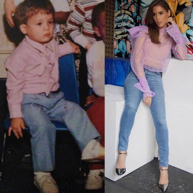 """Carmen Carrera, born Christopher Roman, of Elmwood Park, posted this photo with the caption: """"Some things never change."""""""