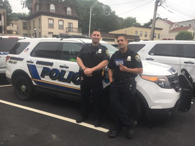 Ossining Police Officers Andrew Pavone and Richard Kamp may have saved the life of a person suffering from an overdose on Monday.