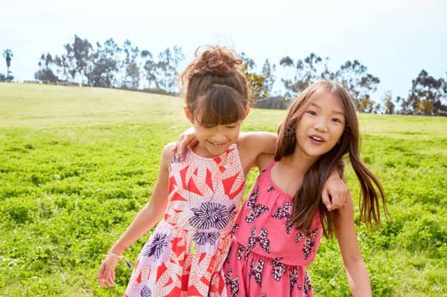 Gymboree is known for its colorful kids clothes.