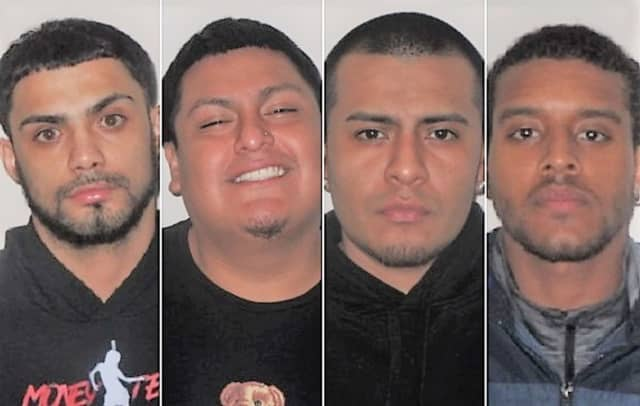 (l. to r.): Michael Galvez, Pedro Marquez, Kevin Avalos, Jerson Navarro