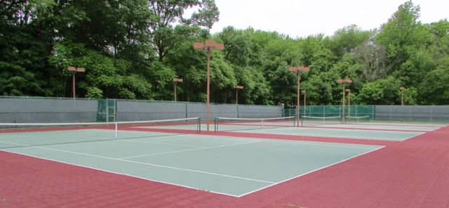 Franklin Lakes' newly-refurbished courts.