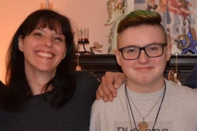 Stacy Masiello and her son, Simon, 19.