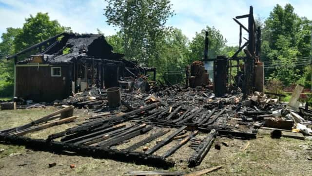 A home at Route 292 and Harmony Road was destroyed by a fire on Sunday.