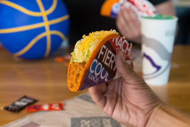 Grab your free taco before 6 p.m. from Taco Bell.