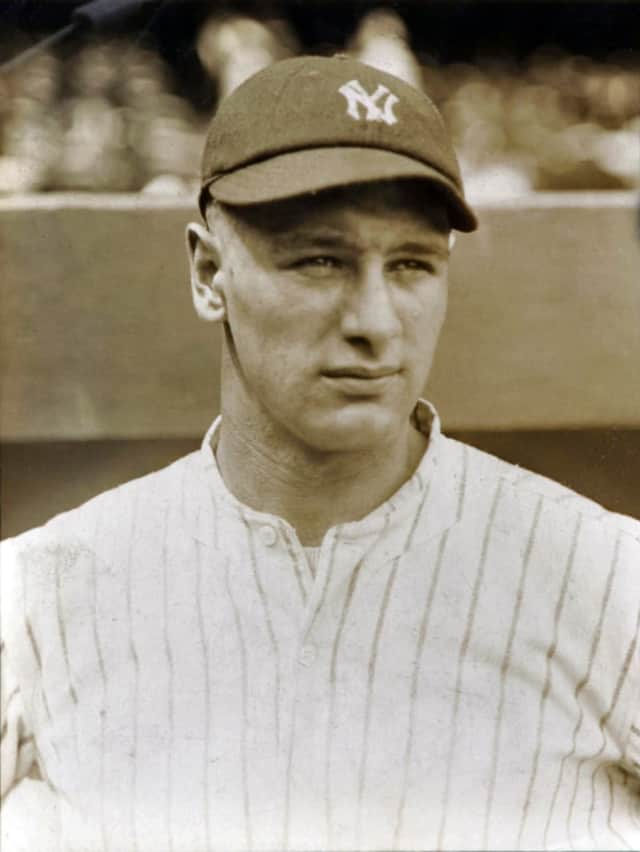 Lou Gehrig during his rookie year with the New York Yankees.