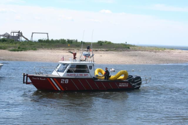 Members of the Fairfield Fire Department rescued a teen from Long Island Sound.