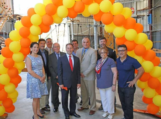 County Executive Rob Astorino and other local officials kick-off summer during the grand opening of Spins Hudson.