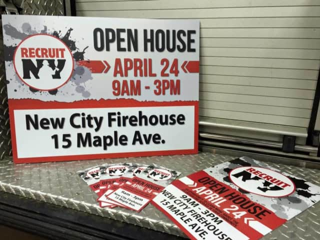 The New City Fire Department will hold an open house on April 24 in an effort to sign up new volunteer firefighters.