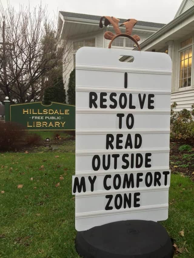 The Hillsdale Public Library is encouraging people to read something different in the new year.