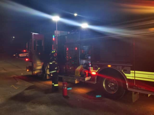Crews respond to the odor of an electrical fire at McGowan's Pizzaland at 401 Monroe Turnpike.