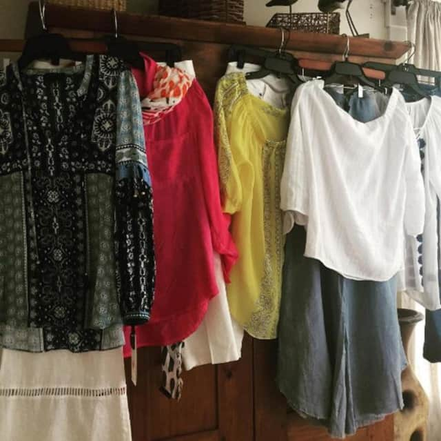 Clothing from Lyn Evans Potpourri Designs.