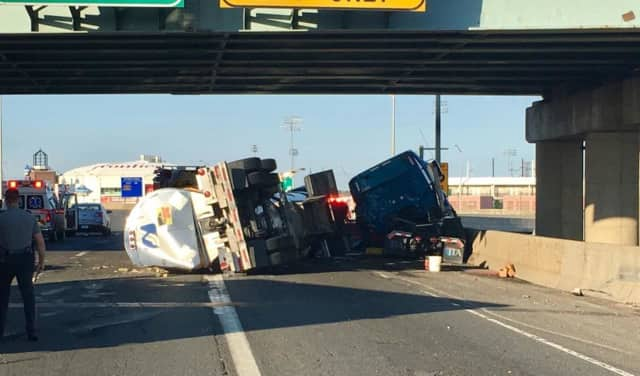 Lane Reopens As Cleanup Continues On I-95 In Bridgeport After