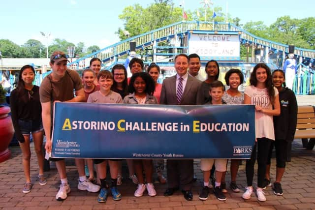 Rob Astorino with the winners of the ACE Challenge in Education.
