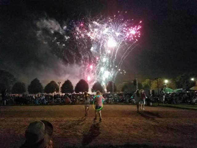 Fireworks light up the night in Ramsey.