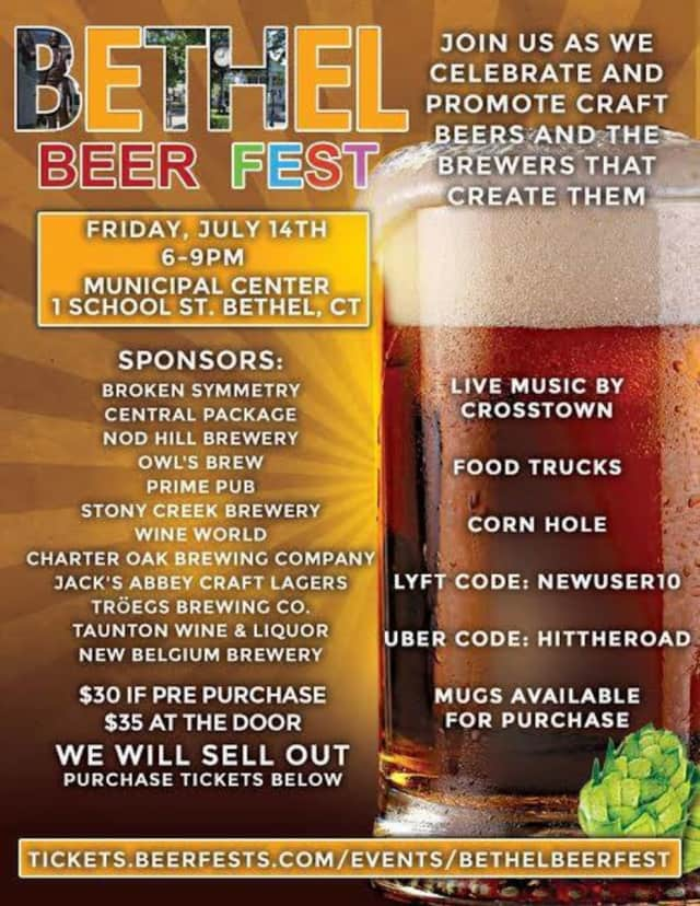 Bethel Beer Fest is Friday, July 14.