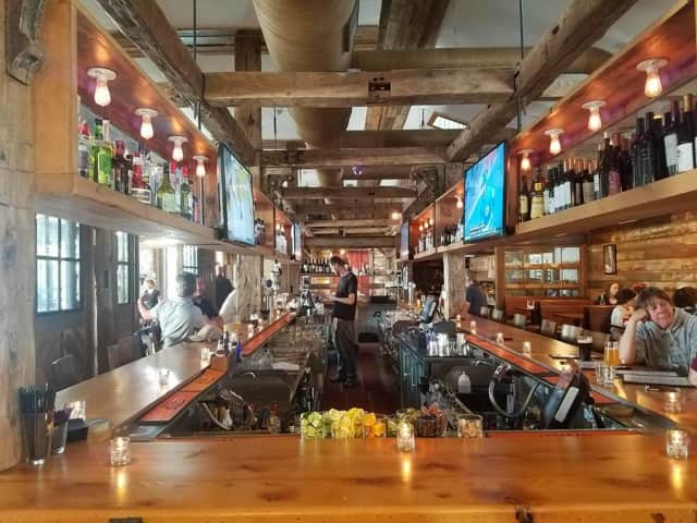 The interior of Red Rooster Pub in Newtown.