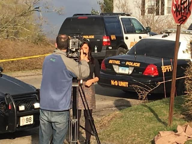 Media and police descended on a quiet neighborhood in Bethel after an apparent murder-suicide attempt left a 76-year-old man dead in his home.
