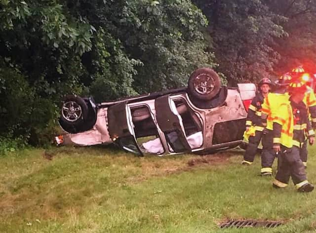The crash occurred on the southbound GSP in Hillsdale.